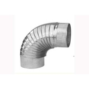 Codo estufa galvanizado diámetro 10 cm.
