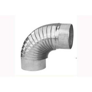 Codos estufa galvanizado 12 cm a 90º