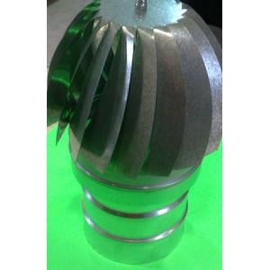 Deflector eólico extractor galvanizado 10 cm.