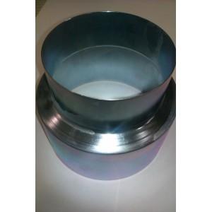 Manguito reductor galvanizado de 15 a 12 cm.