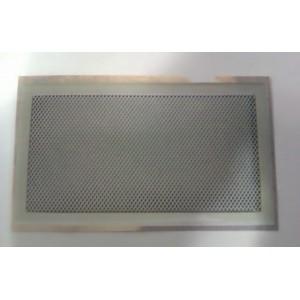 Rejilla ventilación con premarco de 30x15 cm blanca.