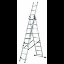 Escalera de aluminio de 3tramos x 9 peldaños Ferral.