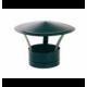 Deflector estufa negro vitrificado para tubo 10 cm diámetro.