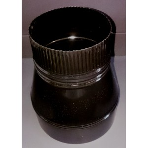 Manguito reductor esmaltado de 20 a 15 cm.