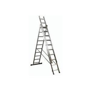 Escalera aluminio de 3 tramos x 10 peldaños.