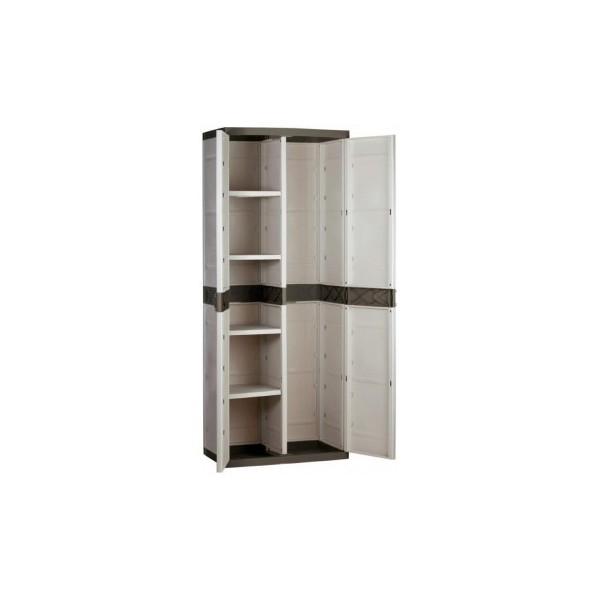 Armario pvc para exterior 4 estantes - Estantes para armarios empotrados ...