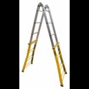Escalera telescópica de acero y aluminio Plabell.