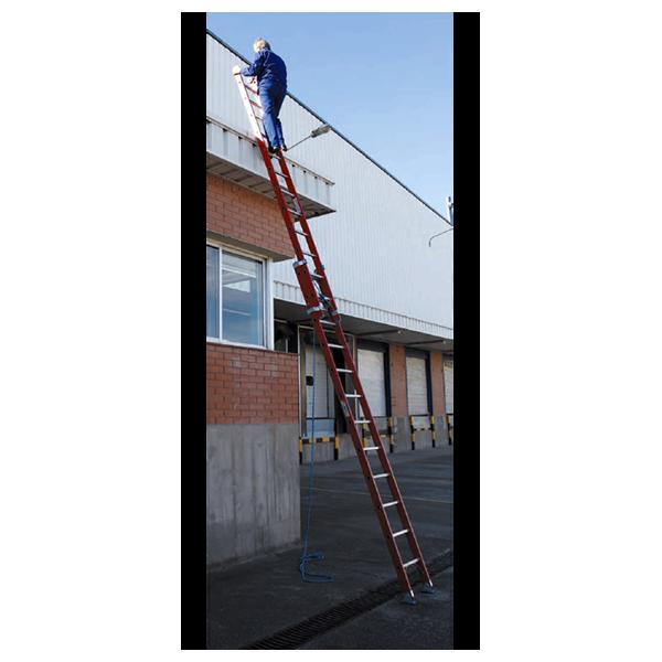 Escalera fibra de vidrio 2 tramos 12 12 con cuerda - Escalera de cuerda ...