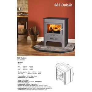 Estufa de leña modelo Dublín Theca.