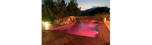 Iluminación para piscinas.