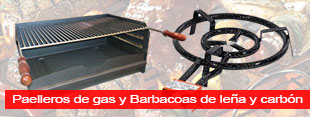 Paelleros de gas y Barbacoas de Leña y de Carbón